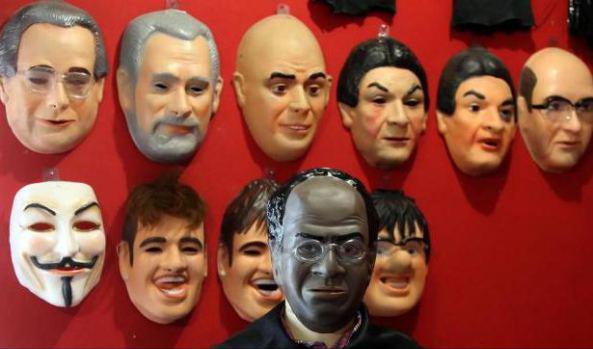 Máscara de Joaquim Barbosa / Foto: Fabio Motta/Estadão Conteúdo
