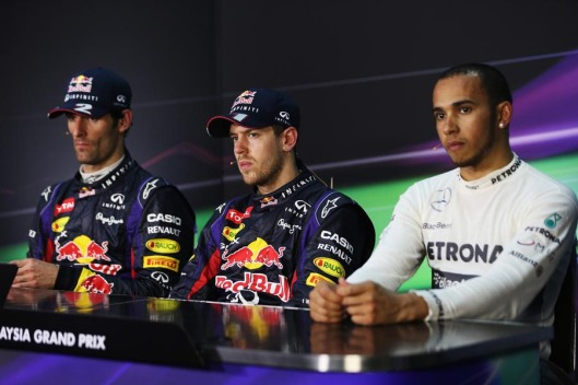 A coletiva sorridente dos vencedores de Sepang / Mark Thompson/Getty Images